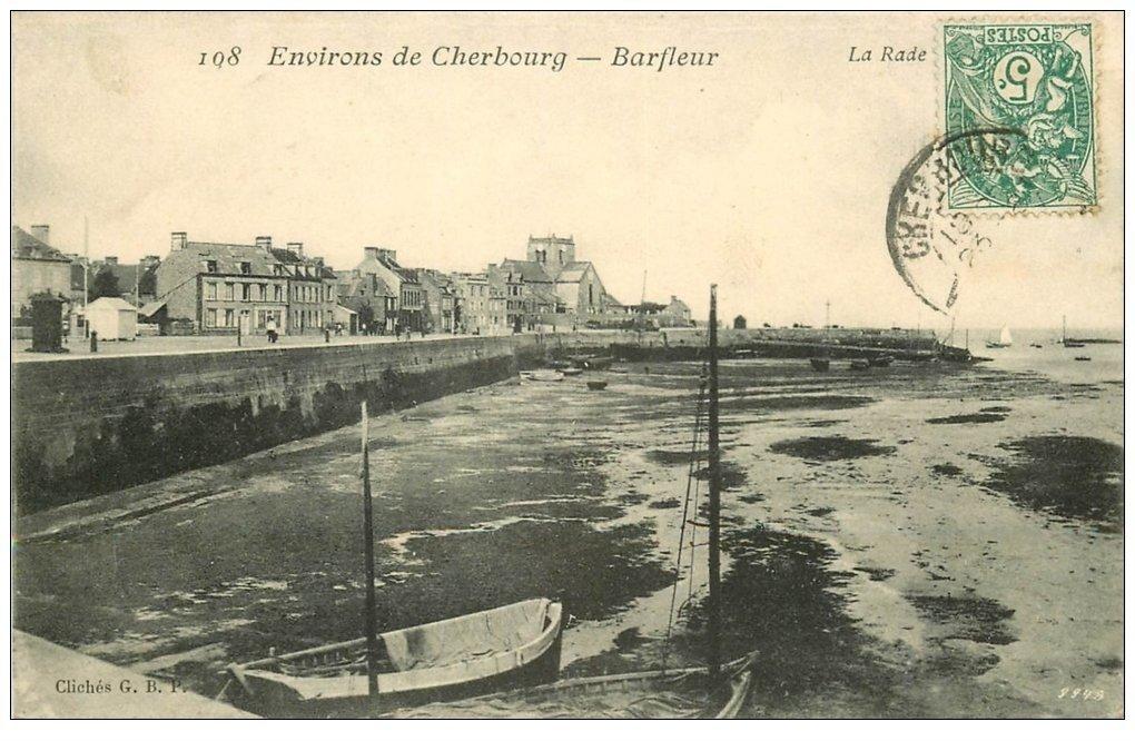 carte postale ancienne 50 BARFLEUR. La Rade