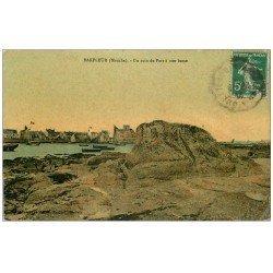 carte postale ancienne 50 BARFLEUR. Le Port 1912