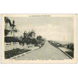 carte postale ancienne 50 BARNEVILLE. Boulevard Maritime 1943