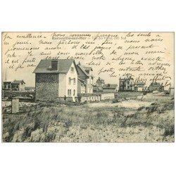 carte postale ancienne 50 BARNEVILLE. Les Villas 1909