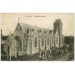 carte postale ancienne 50 BIVILLE. L'Eglise et Cimetière