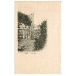carte postale ancienne 50 BIVILLE. L'Eglise vers 1900