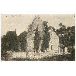 carte postale ancienne 50 BOUILLON. L'Eglise et Cimetière