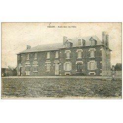 carte postale ancienne 50 BRECEY. Ecole des Filles 1922