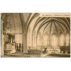 carte postale ancienne 50 BRECEY. Eglise 1961