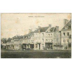 carte postale ancienne 50 BRECEY. Route d'Avranches 1922. En l'état...