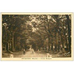 carte postale ancienne 50 BRICQUEBEC. Avenue Matignon