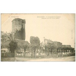 carte postale ancienne 50 BRICQUEBEC. Ensemble du Château