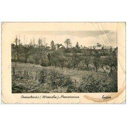 carte postale ancienne 50 CAMETOURS. Panorama 1958. Craquelures et trace café