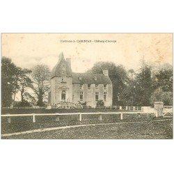 carte postale ancienne 50 CARENTAN. Château d'Auvers 1917