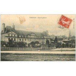 carte postale ancienne 50 CARENTAN. Ecole Supérieure 1908