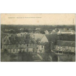 carte postale ancienne 50 CARENTAN. Ecole Théologie Catholique 1908