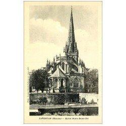 carte postale ancienne 50 CARENTAN. Eglise Notre-Dame