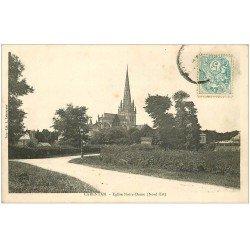 carte postale ancienne 50 CARENTAN. Eglise Notre-Dame 1906