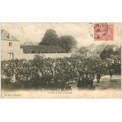 carte postale ancienne 50 CARENTAN. Jour Foire aux Chevaux 1905