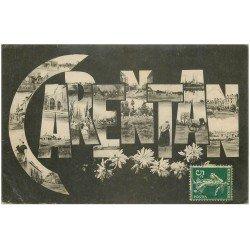 carte postale ancienne 50 CARENTAN. Multivue