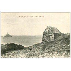 carte postale ancienne 50 CAROLLES. Cabane Vauban 12