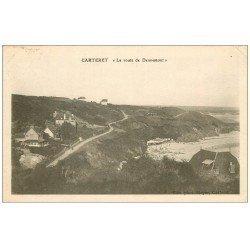 carte postale ancienne 50 CARTERET. Route de Dennemont 1929