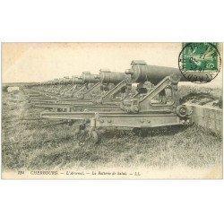 carte postale ancienne 50 CHERBOURG. Arsenal la Batterie de Salut 1913
