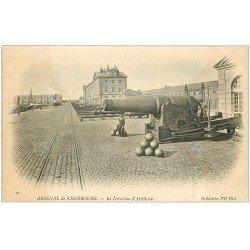 carte postale ancienne 50 CHERBOURG. Arsenal la Direction d'Artillerie 1904