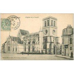 carte postale ancienne 50 CHERBOURG. Eglise Sainte-Trinité 1907
