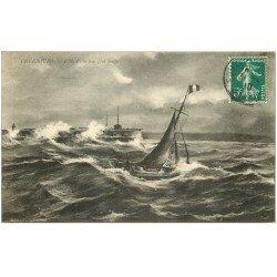 carte postale ancienne 50 CHERBOURG. Ile Pelée 1910
