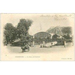 carte postale ancienne 50 CHERBOURG. La Gare 1903