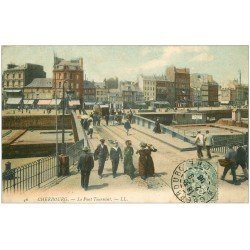 carte postale ancienne 50 CHERBOURG. Le Pont Tournant 1906