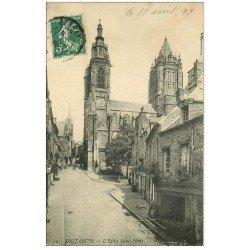 carte postale ancienne 50 COUTANCES. Eglise Saint-Pierre 1909