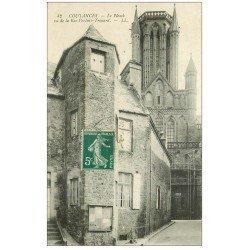 carte postale ancienne 50 COUTANCES. Le Plomb rue Pertuis-Trouard 1910