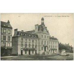 carte postale ancienne 50 COUTANCES. Nouvel Hôtel de Ville
