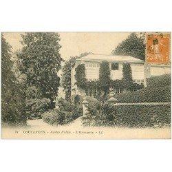 carte postale ancienne 50 COUTANCES. Orangerie Jardin Public 1929