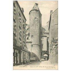 carte postale ancienne 50 COUTANCES. Rue de la Poissonnerie Levilain armoires d'occasion