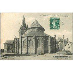 carte postale ancienne 50 GRANVILLE. Abside Eglise Notre-Dame 1909