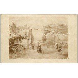 carte postale ancienne 50 GRANVILLE. Ancien Pont de Bois de la Tranchée en 1840 bis