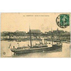 carte postale ancienne 50 GRANVILLE. Arrivée du bateau de Jersey 1911