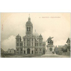 carte postale ancienne 50 GRANVILLE. Eglise Saint-Paul
