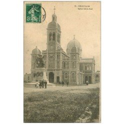 carte postale ancienne 50 GRANVILLE. Eglise Saint-Paul 1908