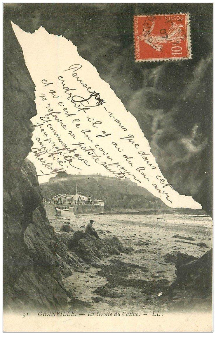carte postale ancienne 50 GRANVILLE. La Grotte du Casino 1907