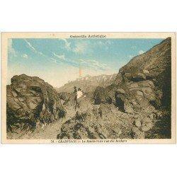 carte postale ancienne 50 GRANVILLE. La Haute Ville vue des Rochers