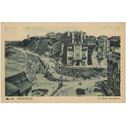 carte postale ancienne 50 GRANVILLE. La Place du Casino Hôtel