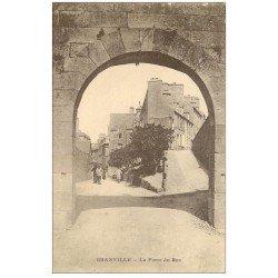 carte postale ancienne 50 GRANVILLE. La Porte du Roc