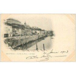 carte postale ancienne 50 GRANVILLE. La Rue du Port 1903