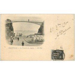 carte postale ancienne 50 GRANVILLE. La Tranchée aux Anglais. Timbre 1 Centime 1900