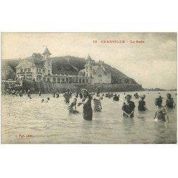 carte postale ancienne 50 GRANVILLE. Le Bain 1917