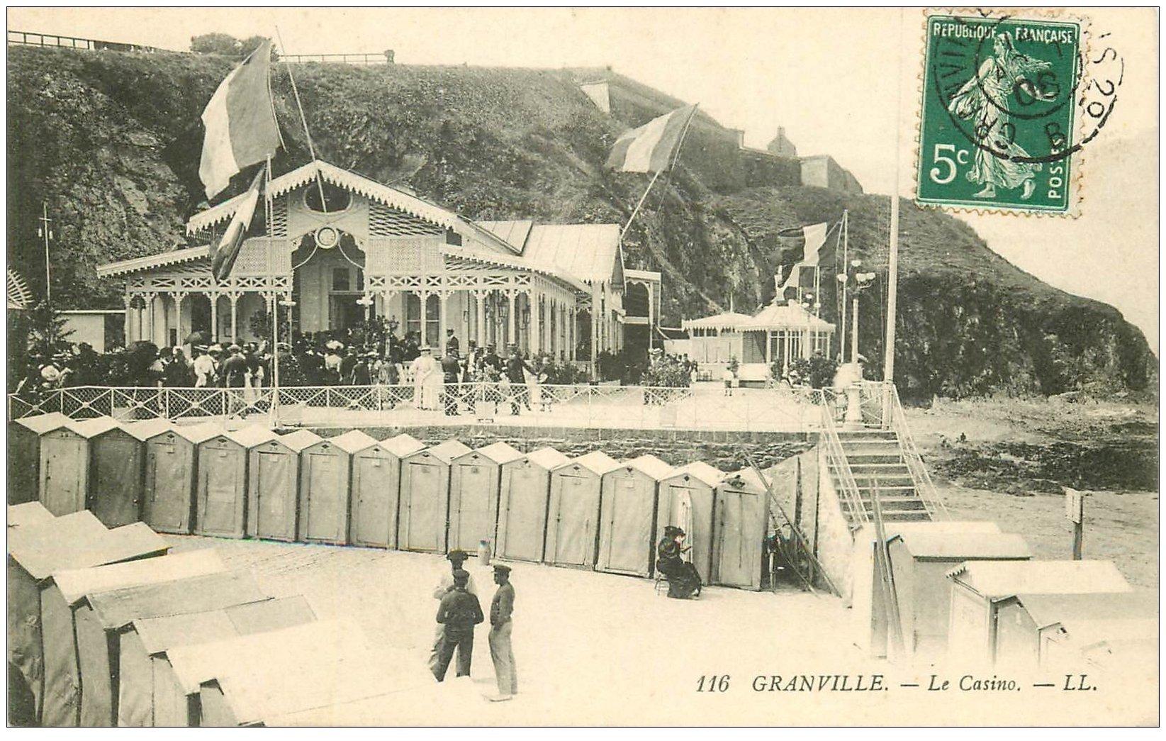 carte postale ancienne 50 GRANVILLE. Le Casino 1908