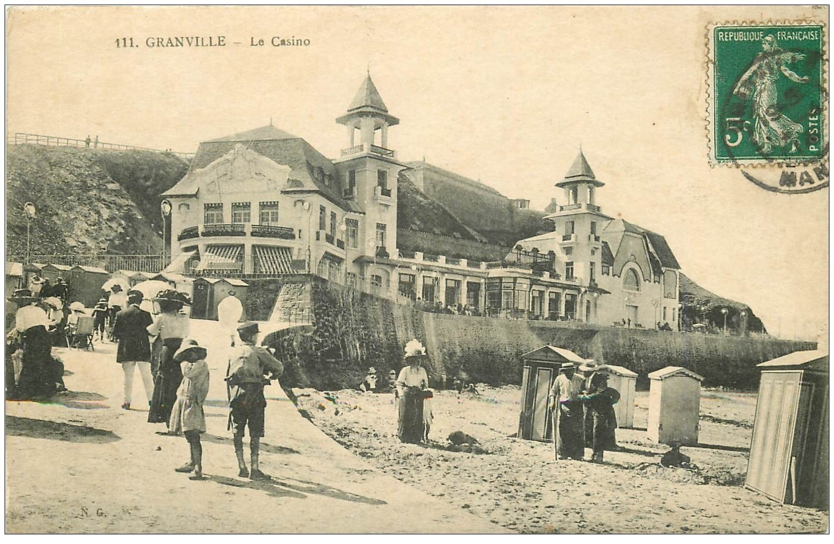 carte postale ancienne 50 GRANVILLE. Le Casino 1914