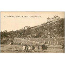 carte postale ancienne 50 GRANVILLE. Villas et Falaise avec nouvel Escalier