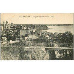 carte postale ancienne 50 GRANVILLE. Vue prise du Moulin à Vent 1923