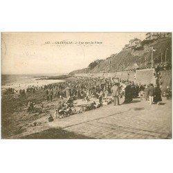 carte postale ancienne 50 GRANVILLE. Vue sur la Plage 1932